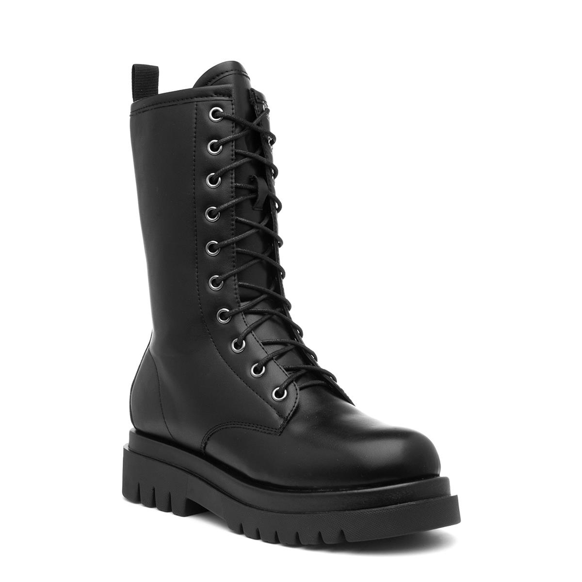 Truffle VEGA3 Womens Black Lace Up Calf Boot