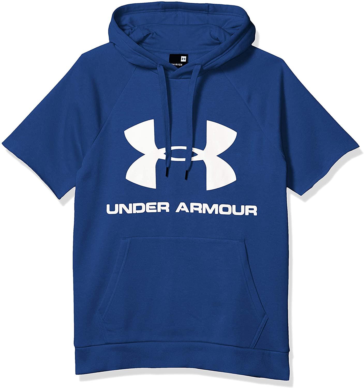 Under Armour Men's Rival Fleece Logo Short Sleeve Pullover Hoodie Hoodie