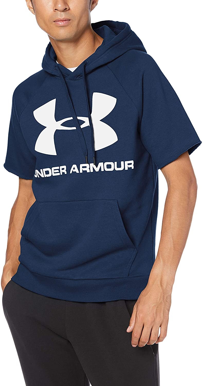 Under Armour Men's Rival Fleece Logo Shortsleeve Hoodie Warm-up Top