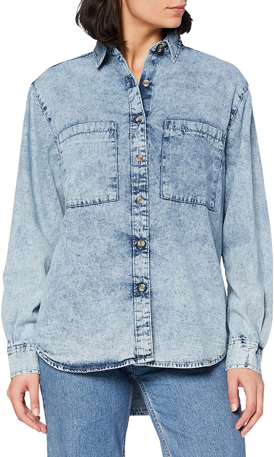 Urban Classics Women's Ladies Denim Oversized Shirt