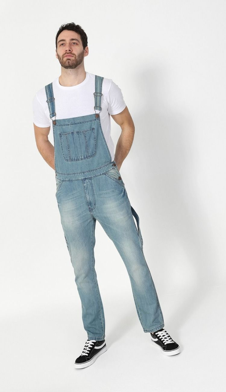 Uskees Slim Fit Dungarees for Men
