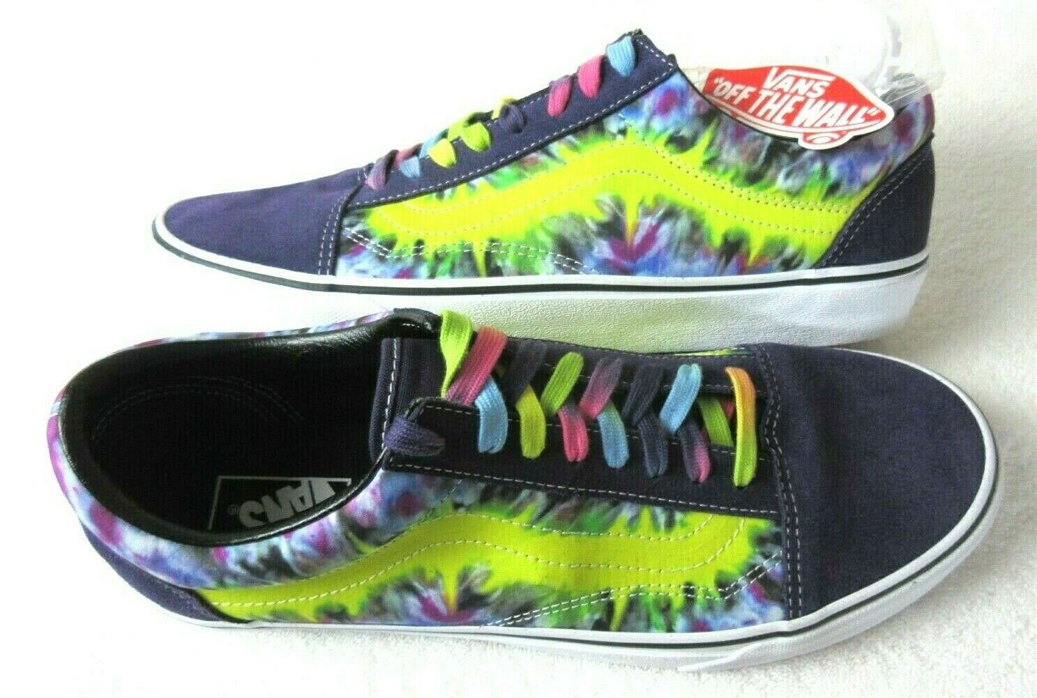 Vans Mens Old Skool Tie Dye Mysterio Canvas Suede Skate Casual shoes Size 10 NWT