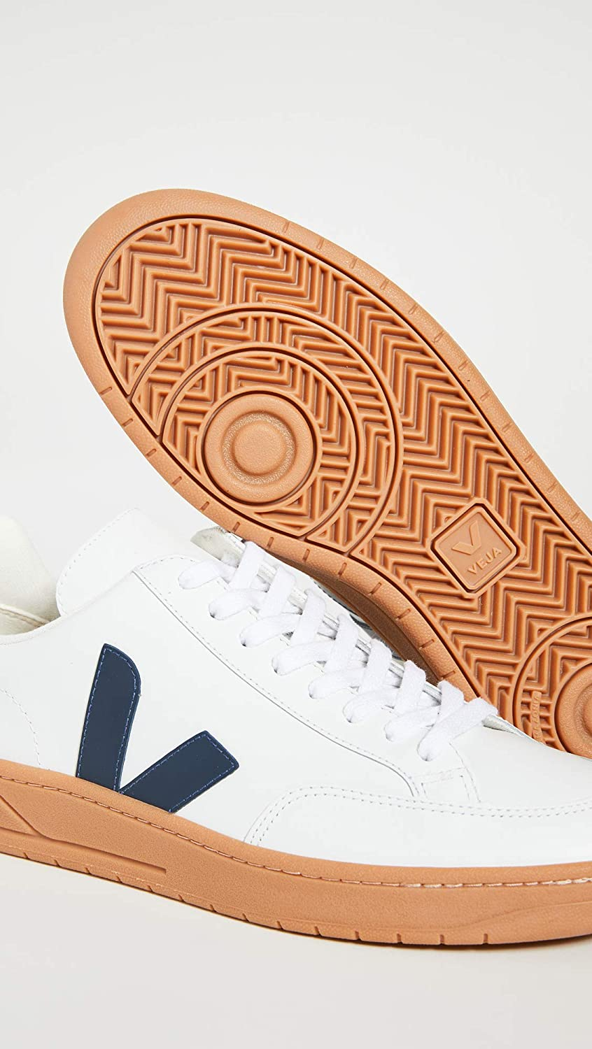 Veja V-12 Leather Trainers Extra White Nautico Gum Sole shoes