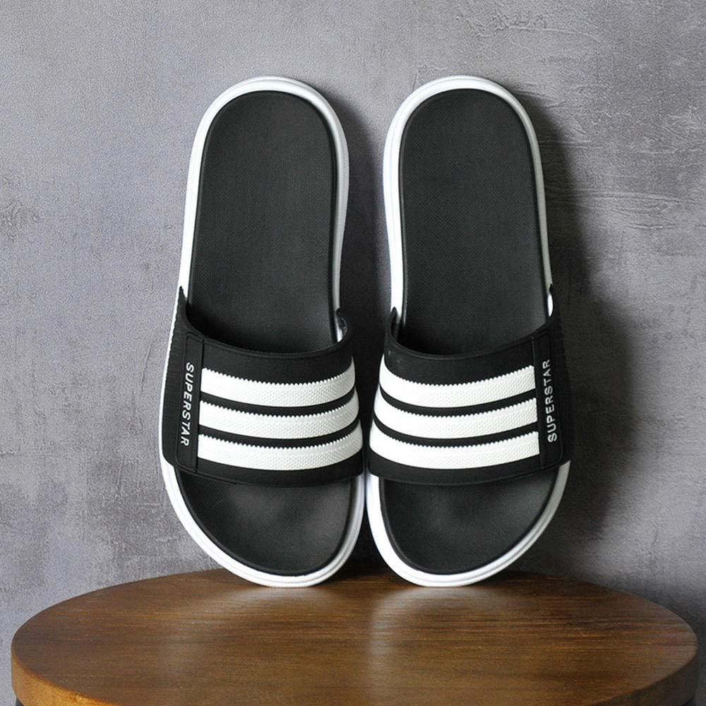WHYES Mens Sliders Slippers slippers,men's and slippers in summer,@ black_44-45