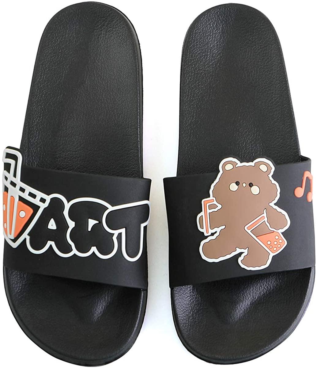 WYSFLY Slip On Slippers for Women Men Summer Non-Slip Sliders