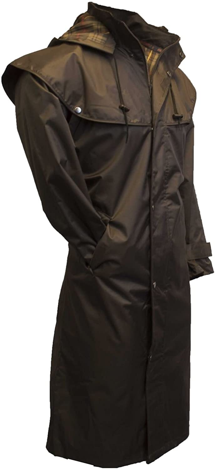 Walker & Hawkes - Outdoor Country Midland Cape with Detachable Hood - Nylon Full Length Jacket with Taped Seams