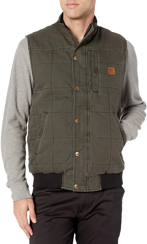 Walls Men's Vintage Quilted Vest Work Utility Outerwear