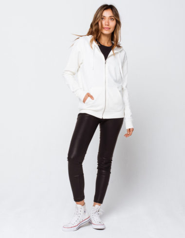 White Zip Up Hoodie for Winter