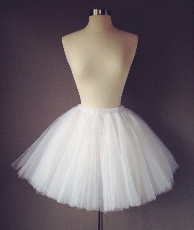 White tulle skirt- Bachelorette Tutu- adult white tutu- women's white tutu-bridesmaid tutu- reception tutu- any length, made to order.