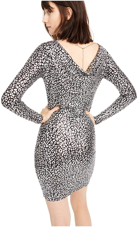 Women Cowl Neck Cocktail Dress