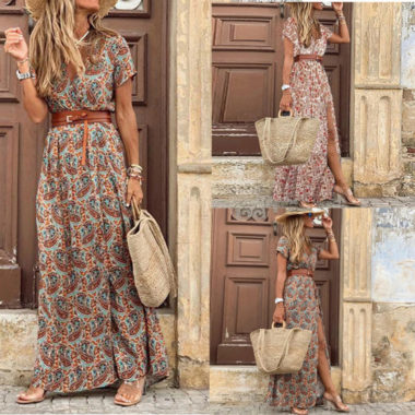 Women Paisley printed dress