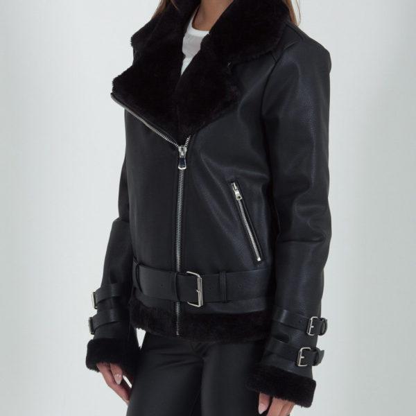 Women's Aviator Raf B3 Sheepskin Fur Shearling Leather Bomber Flying Jacket
