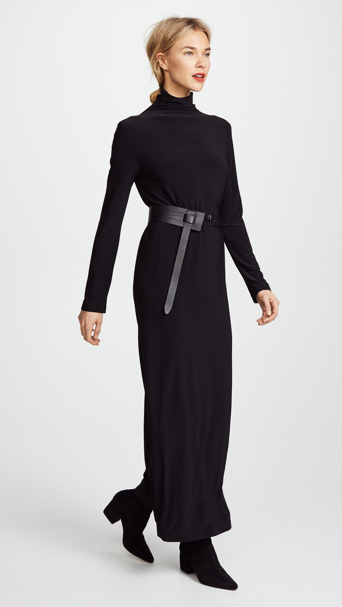 Women's Black Kamali Kulture Go Turtleneck Maxi Dress