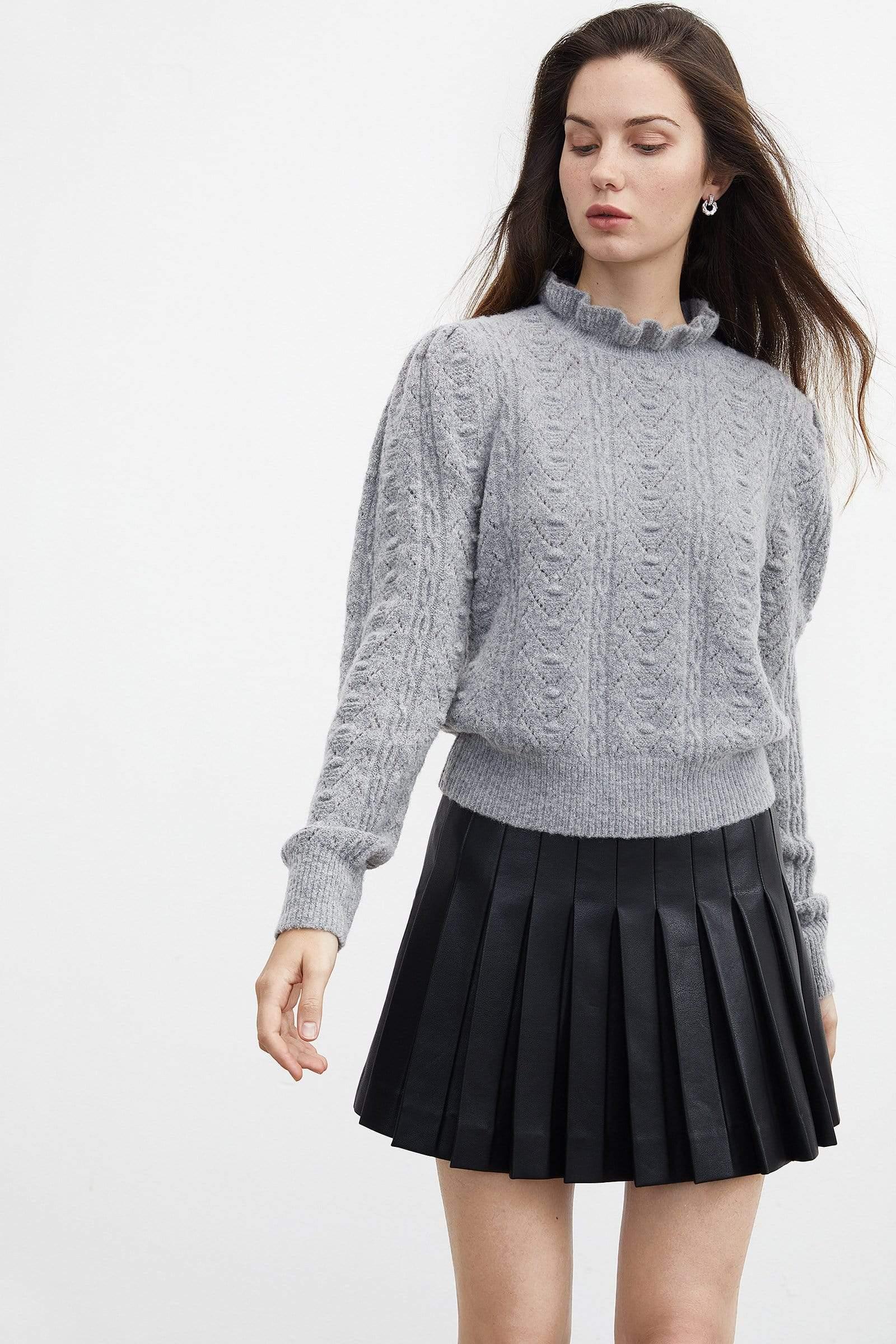 Women's Black Pleated Skirt