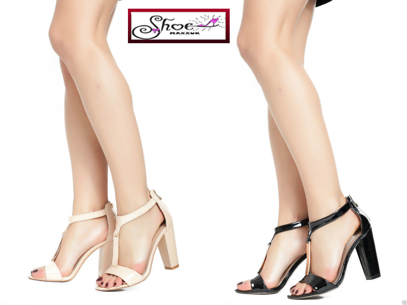 Women's Block High Heel Ankle Strap Strappy Sandals Ladies Party Girls Shoes