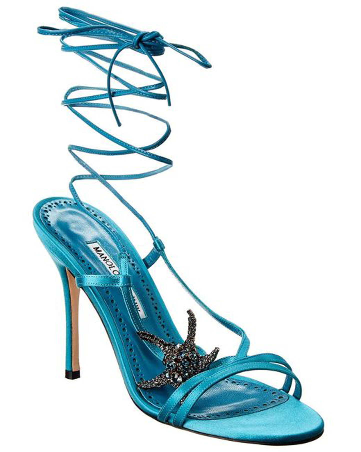 Women's Blue Bucu 105 Satin Sandal