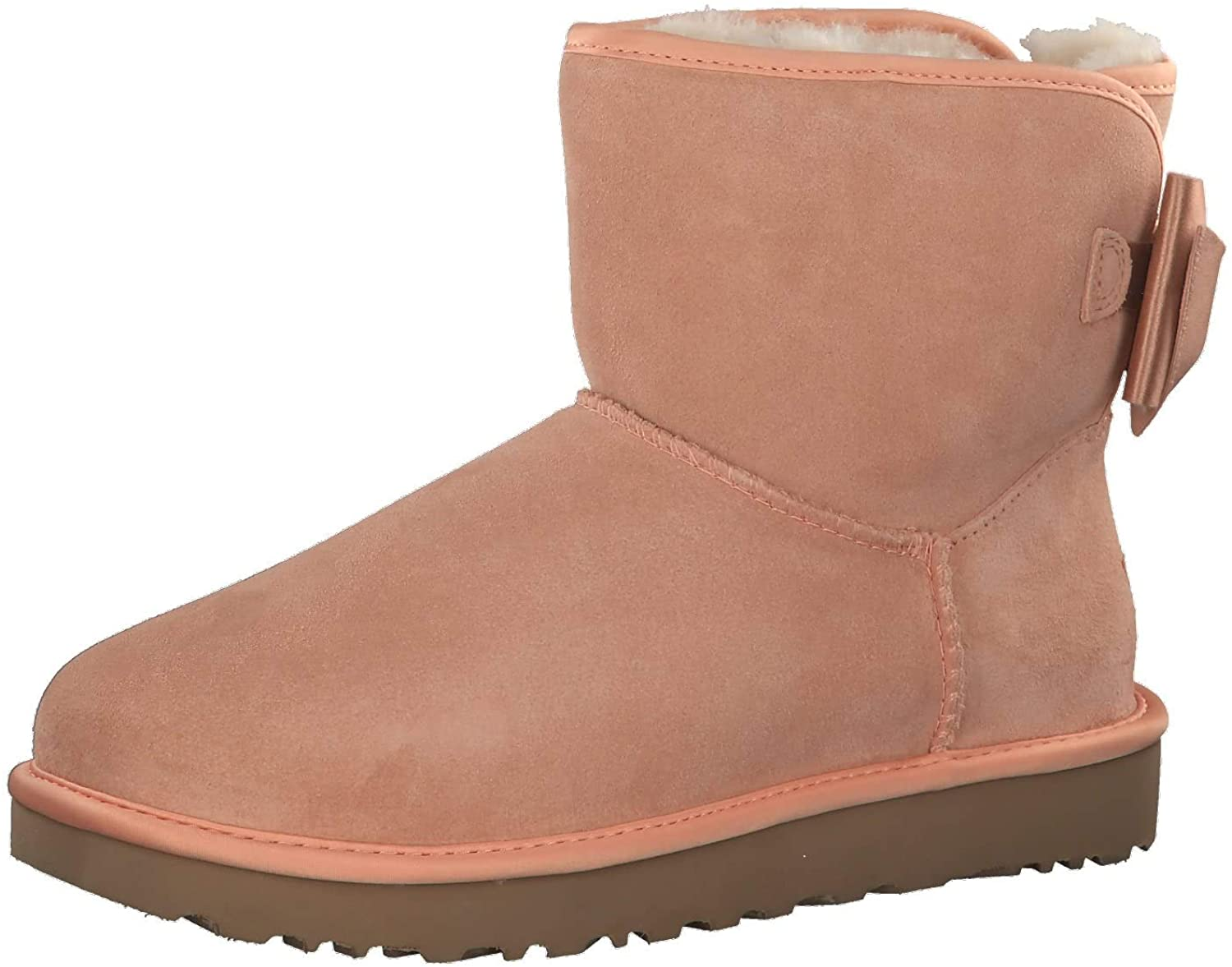 Women's Shoes UGG Light Pink Satin Bow Mini Boot Fall Winter