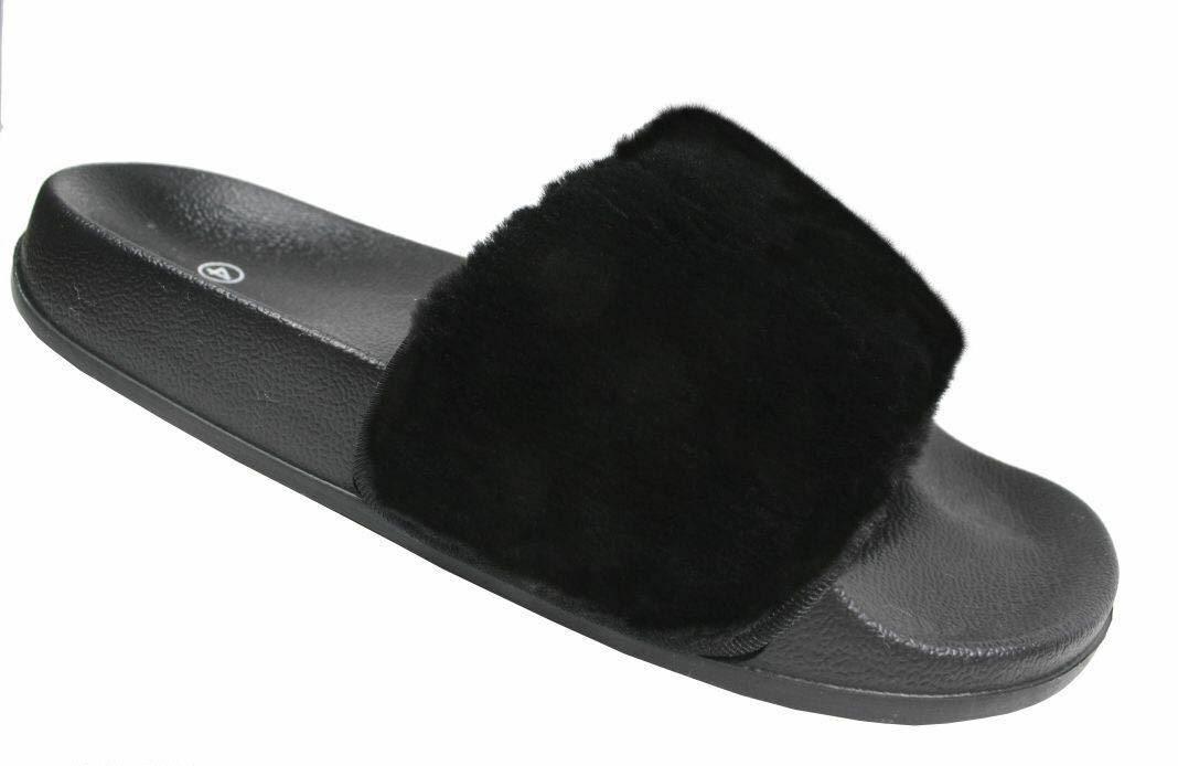 Women's Slip On Size Flat Farrah Rubber Slider