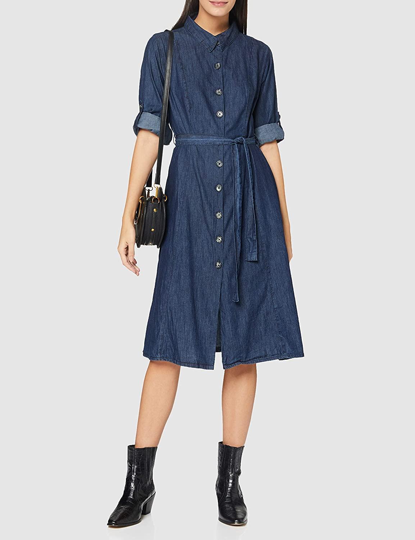 Yumi Women's Denim Shirt Dress Casual