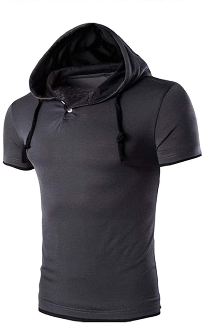 ZYYM Men's Hoodie Sweatshirt Outwear Mens Short Sleeve Pullover Hoodies T Shirts Casual Sports Top Hoodies Sweatshirt Pullover Hoodie Mens Short Sleeve T Shirts Casual Top Hoodies Sweatshirt