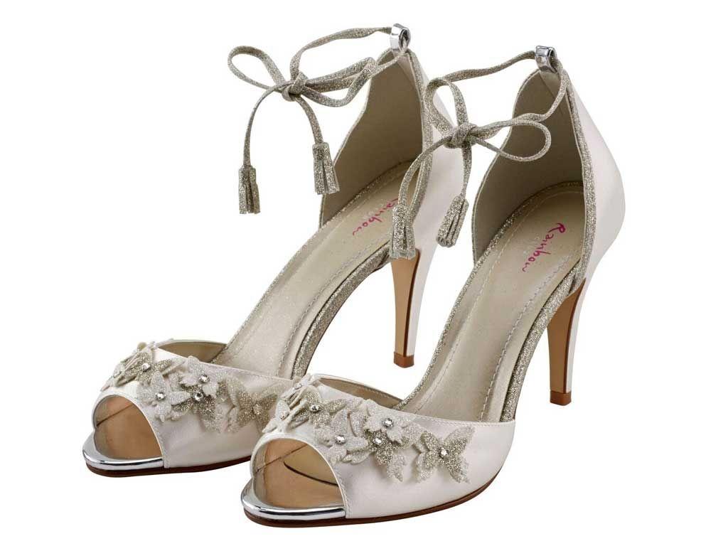 Zarah - Strappy Sandal Ivory Satin Shoe