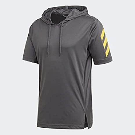 adidas Men's 31029 Sport Short Sleeve Hoodie