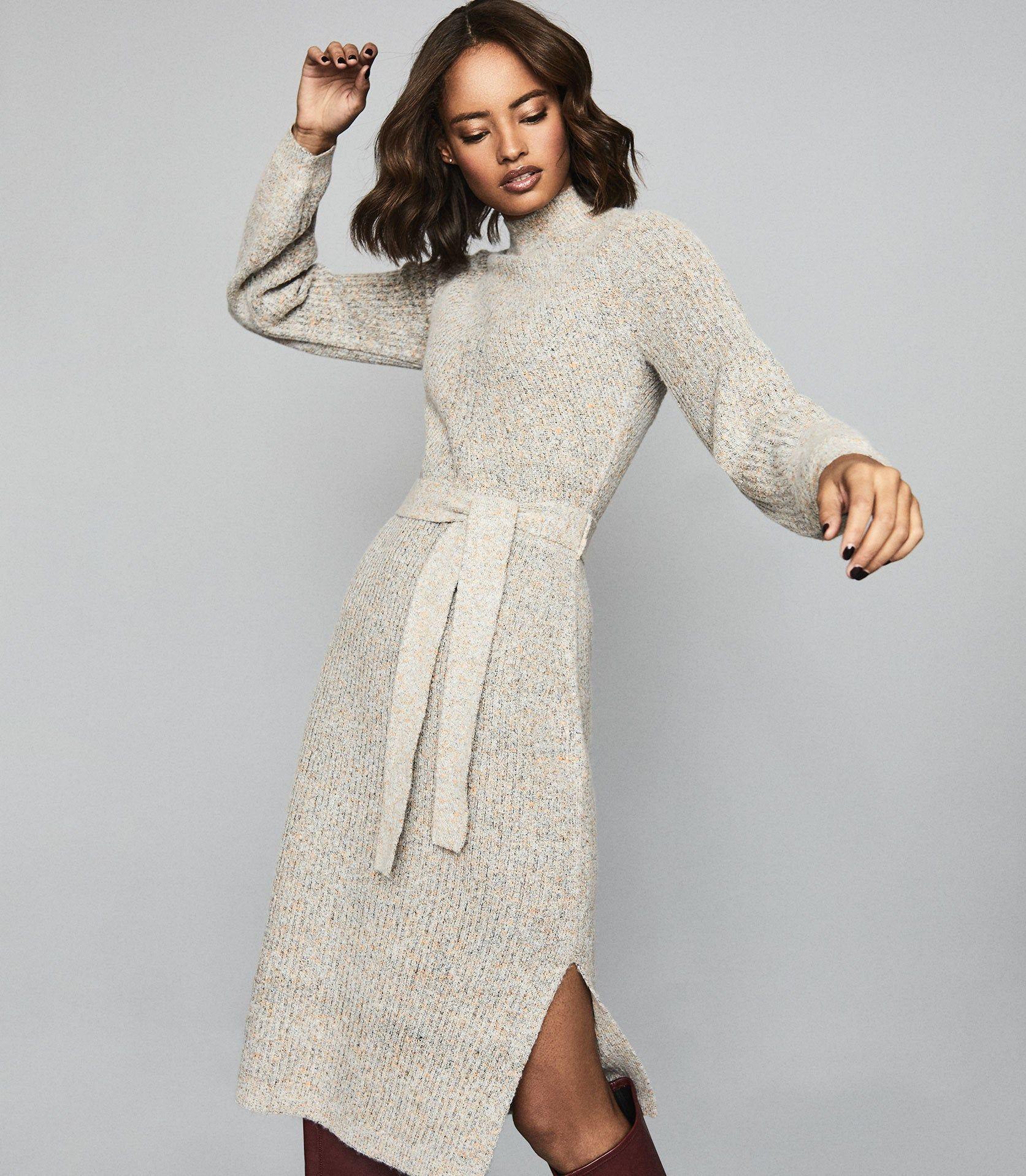 april knitted midi dress