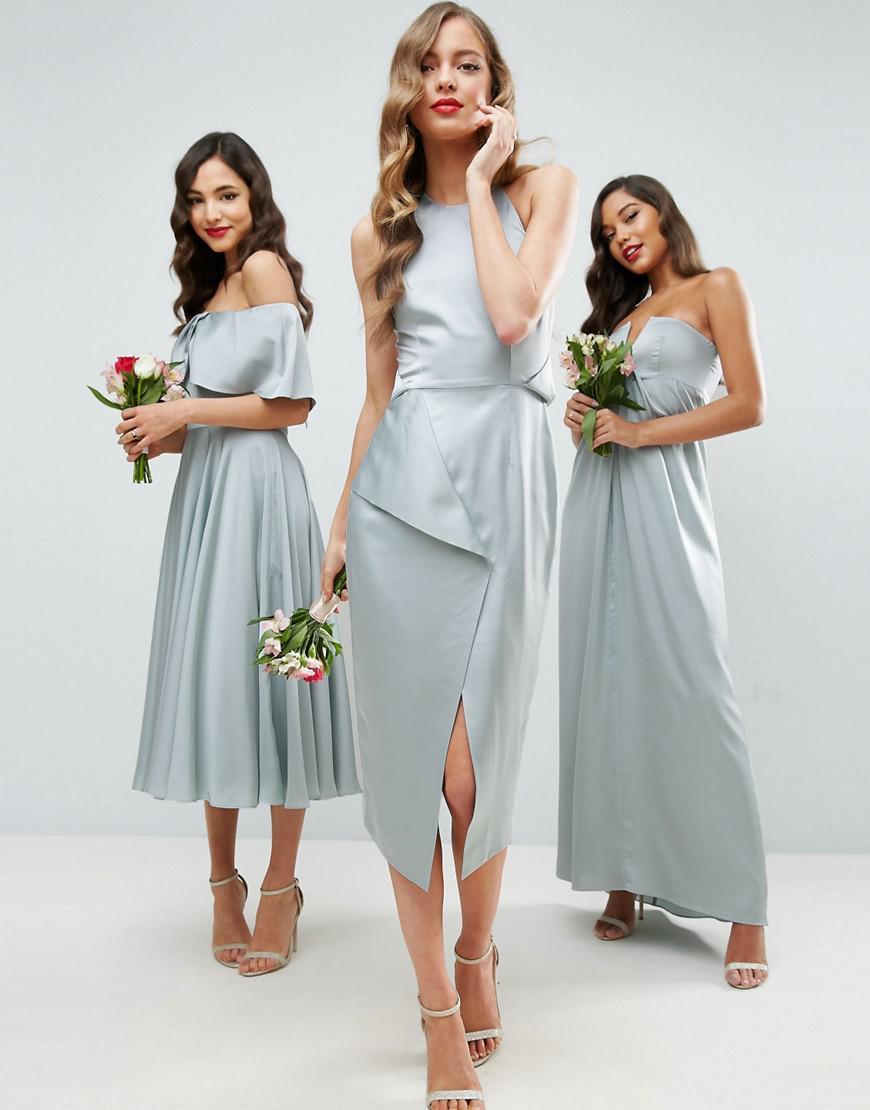 bridesmaid pencil midi dresses