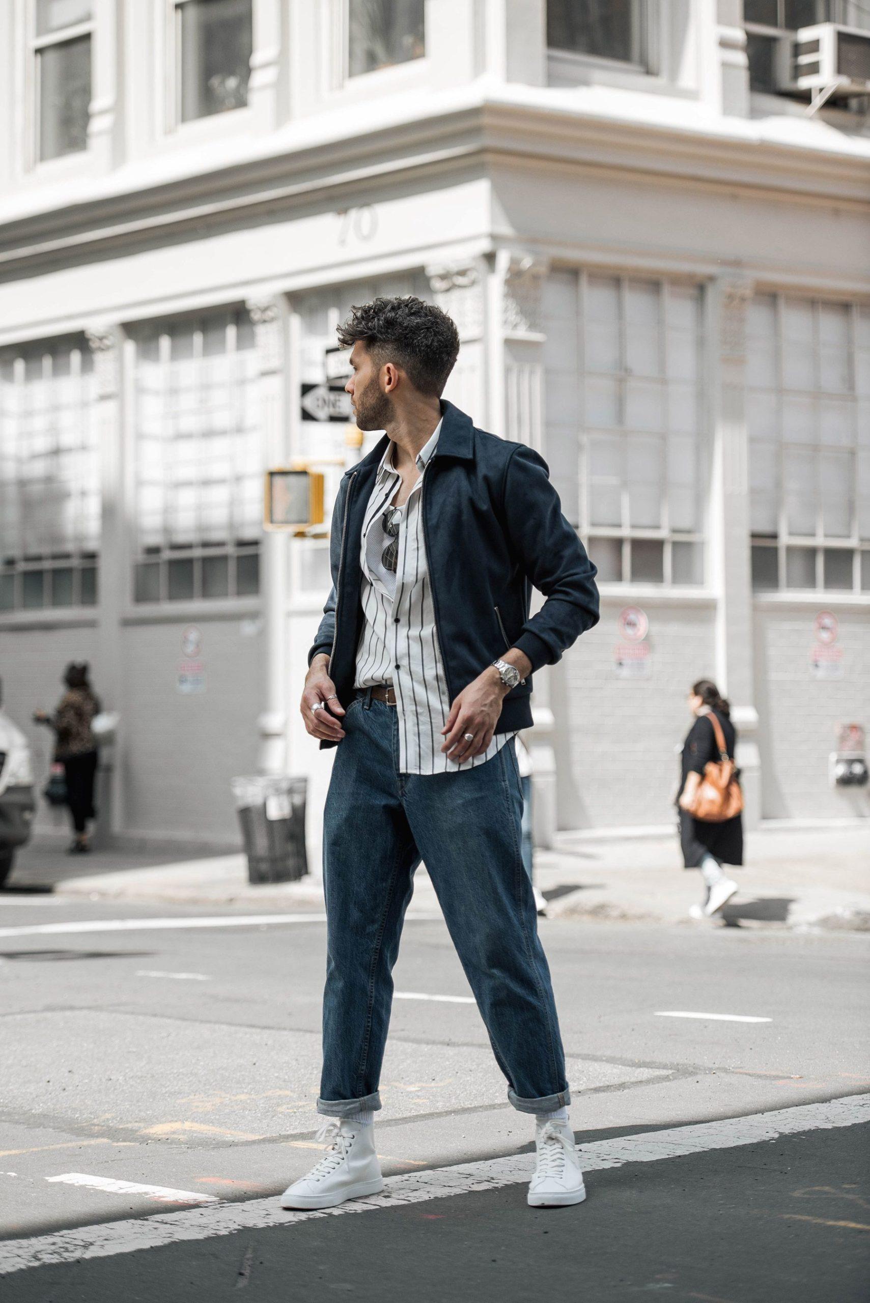 baggy men-jeans look