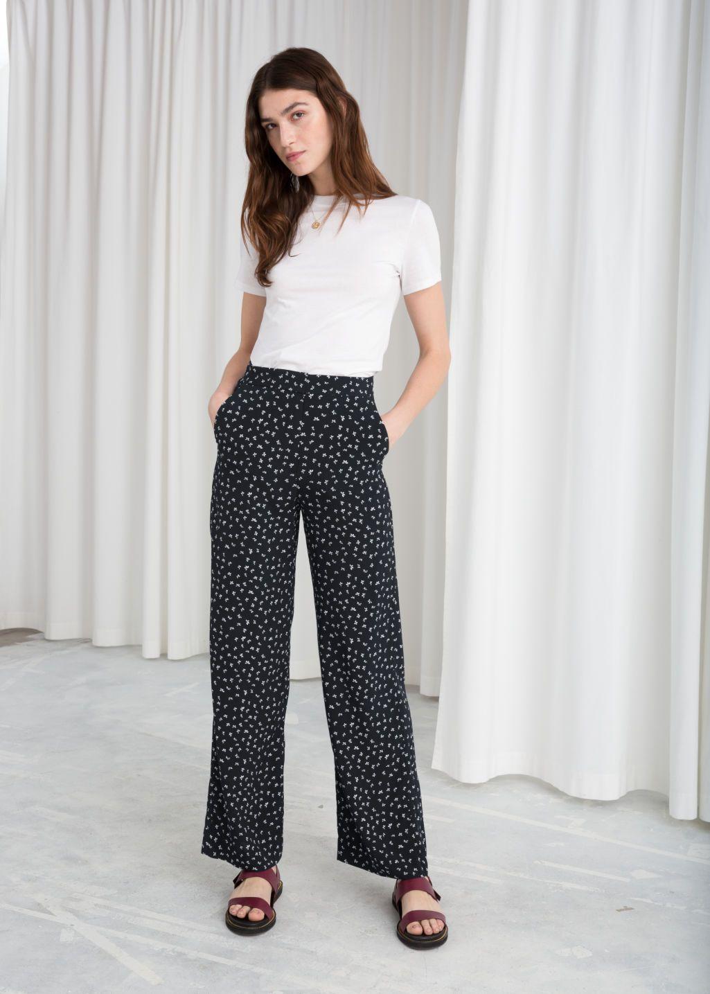 black print pants