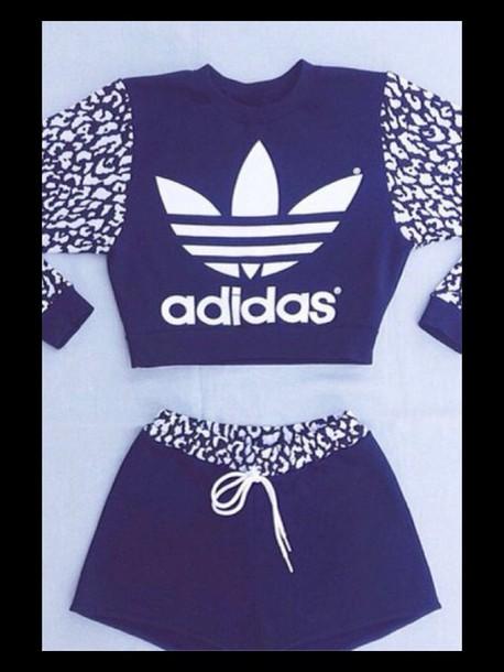 Wheretoget.it top, adidas, black, white, shorts, matching set, two-piece,