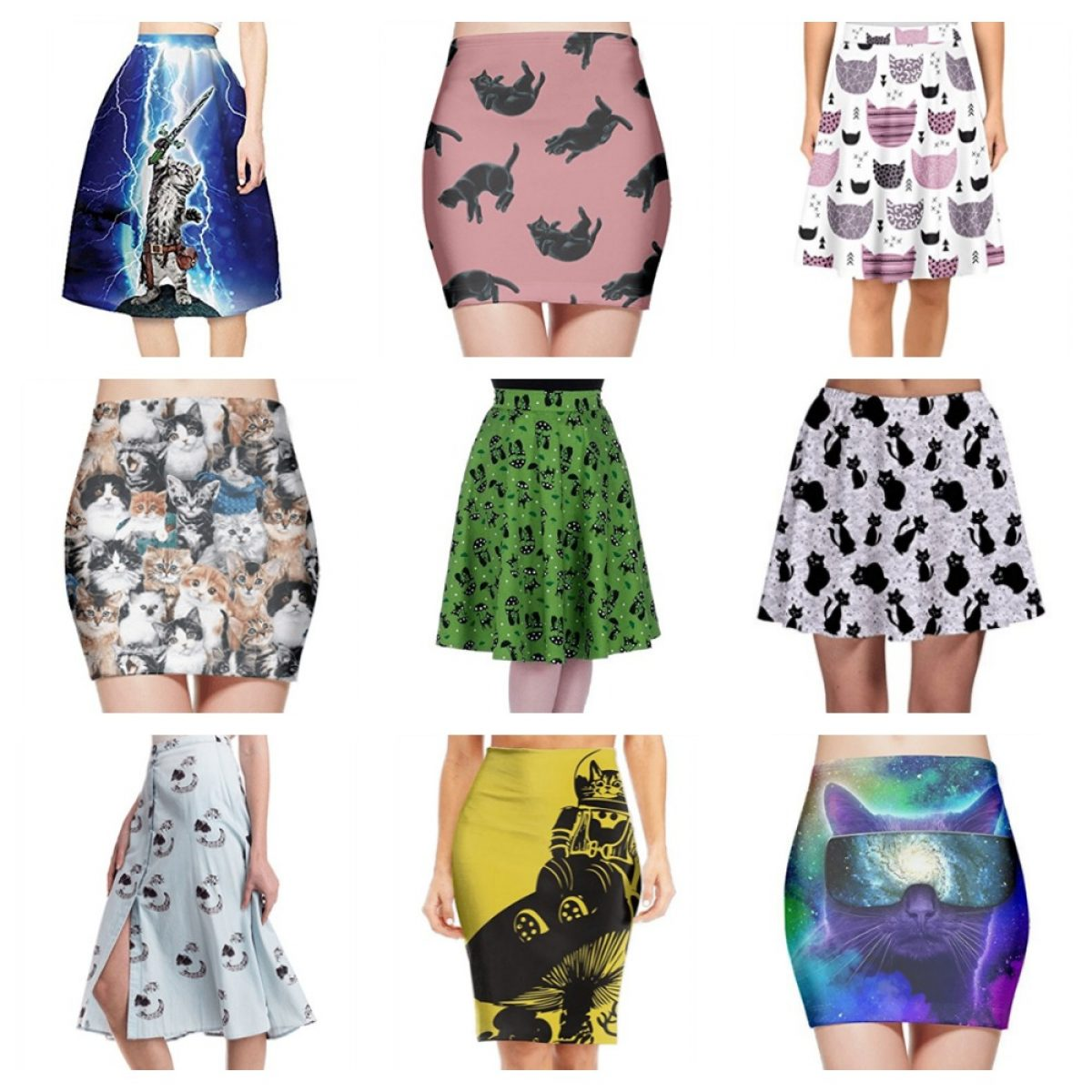 skater skirts is funky designs