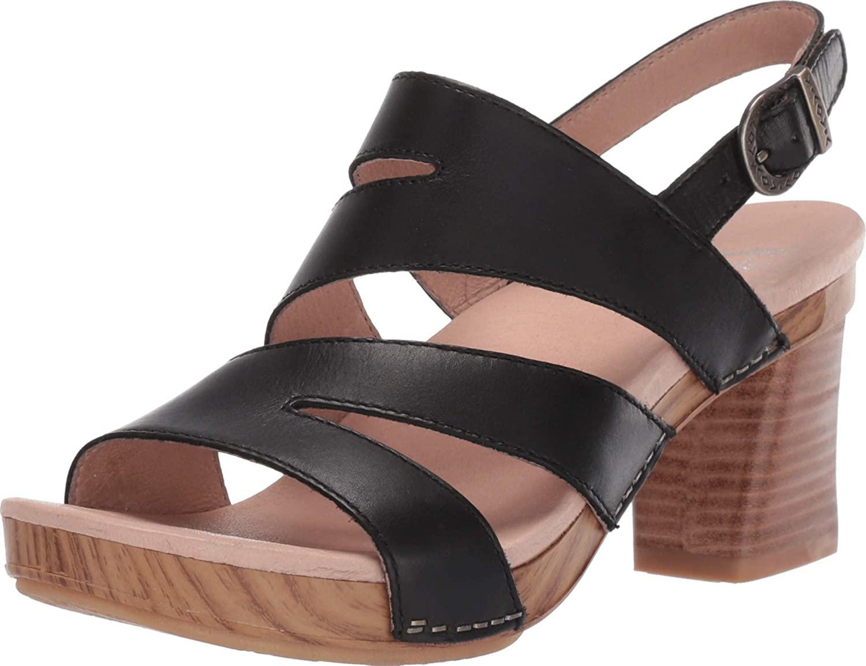 dansko Womens Ashlee Full Grain Leather Open Toe Special Occasion Ankle Strap