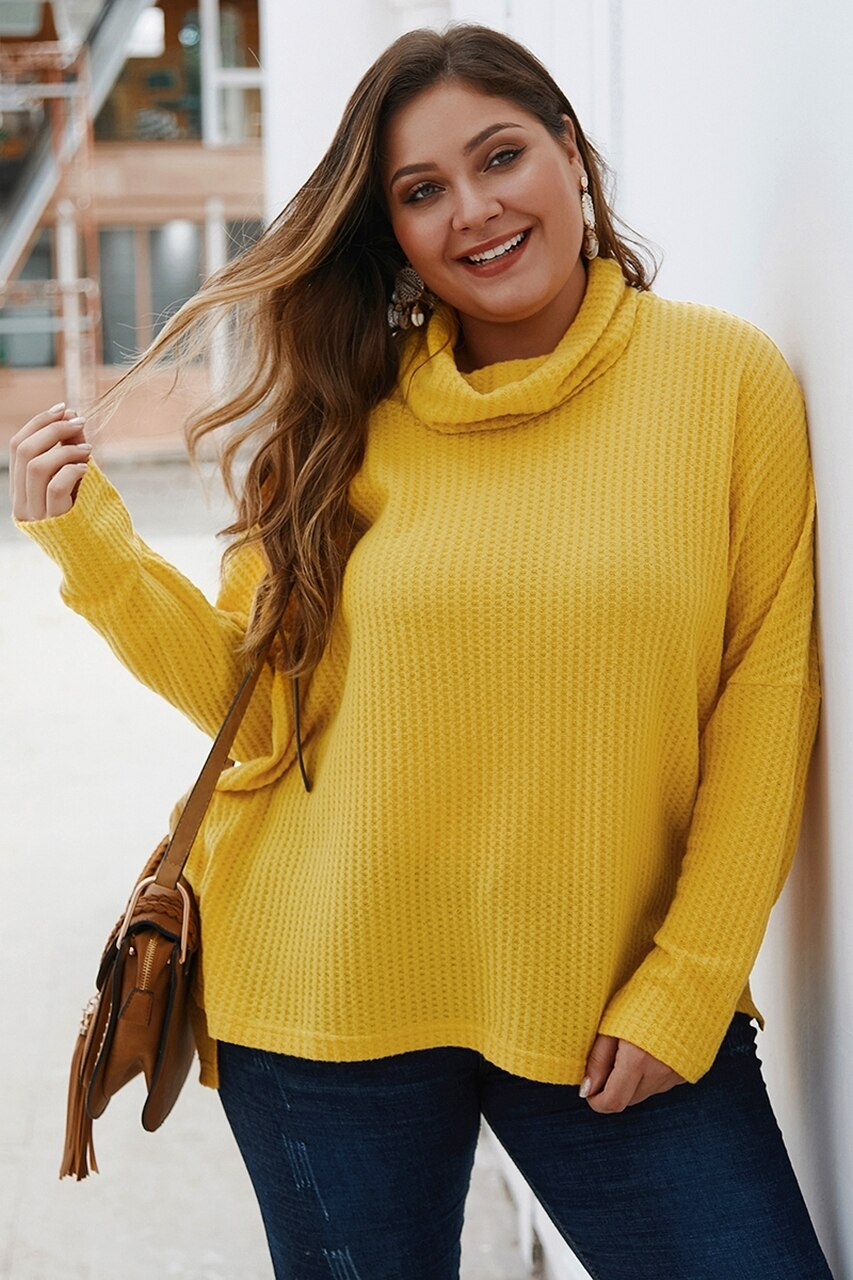Cowl Neck Sweater yellow