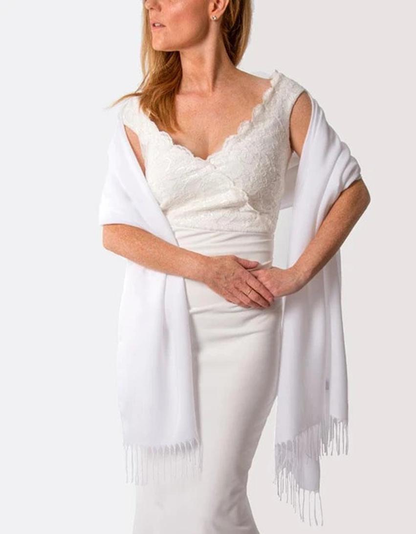 White Wedding Pashmina