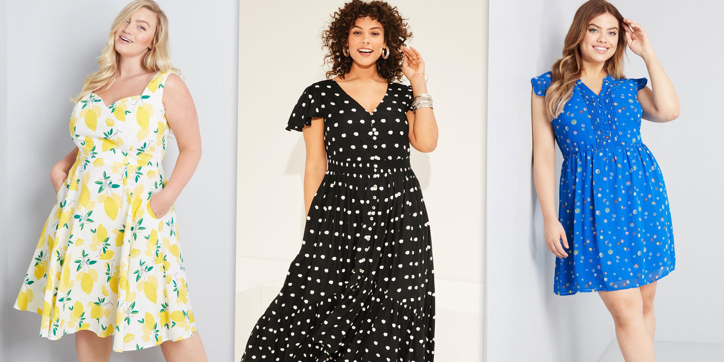fashionable plus size smock dress