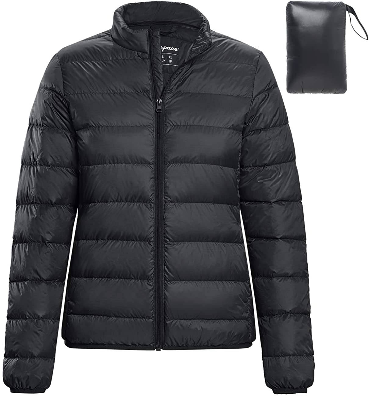 fit space Down Jacket Lightweight for Women Insulated Water-Resistant Puffer Coat Outerwear Packable