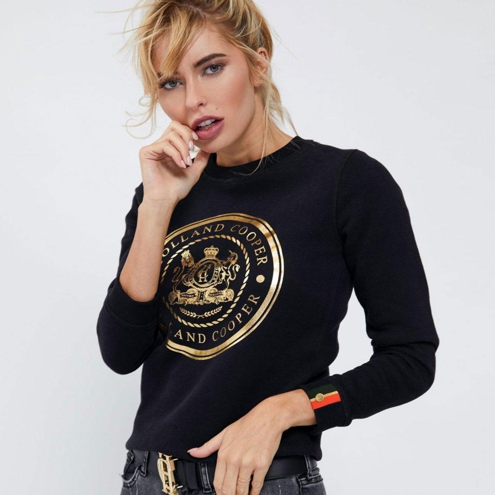 Holland Cooper Ladies Crest Crew Sweatshirt