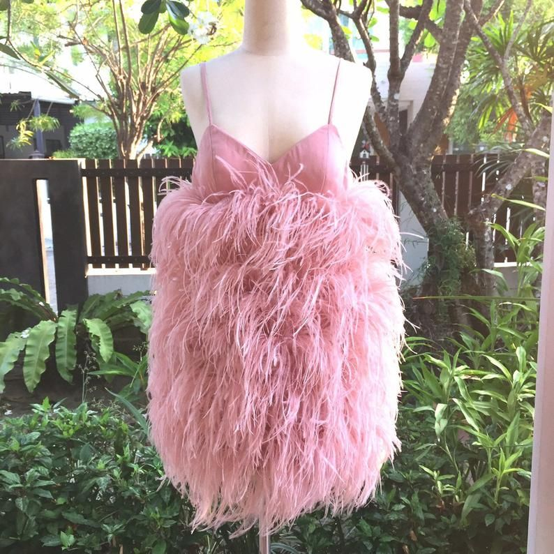 Pink Feather Dress Feather Cocktail Dress                                                                                                          Pink Feather Dress Feather Cocktail Dress @ etsy.com                                                          Pink Feather Dress Feather Cocktail Dress @ etsy.com