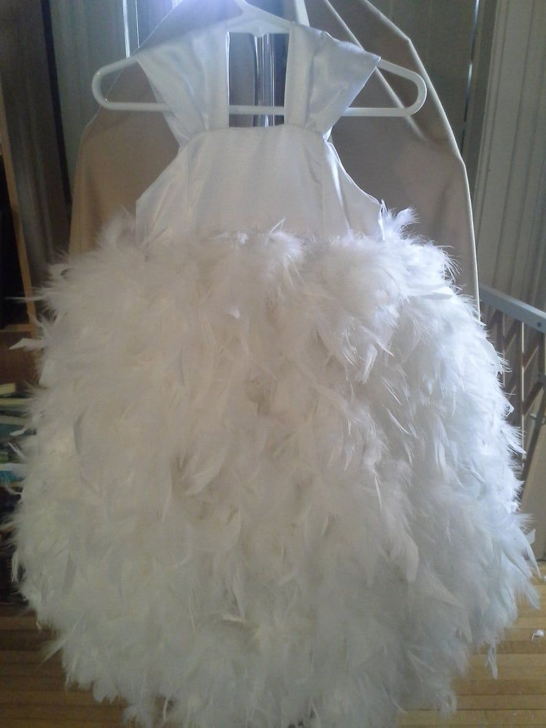 Feather dress - fluffy, full and any colour you want. weddings, birthdays, parties, dress up