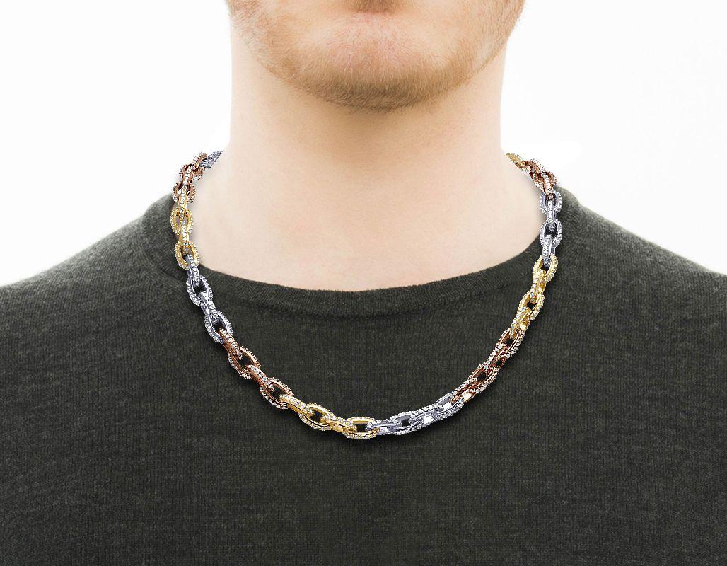 Mens Rolo Chain Necklaces