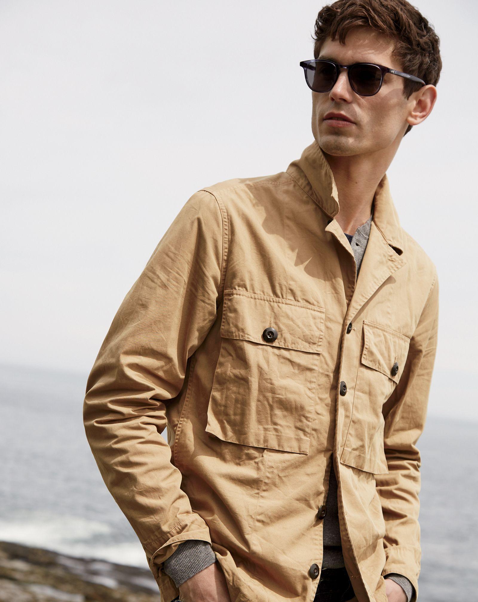 men's khaki shirt