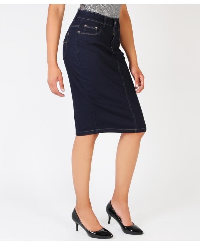 Dark black Denim tube Skirt