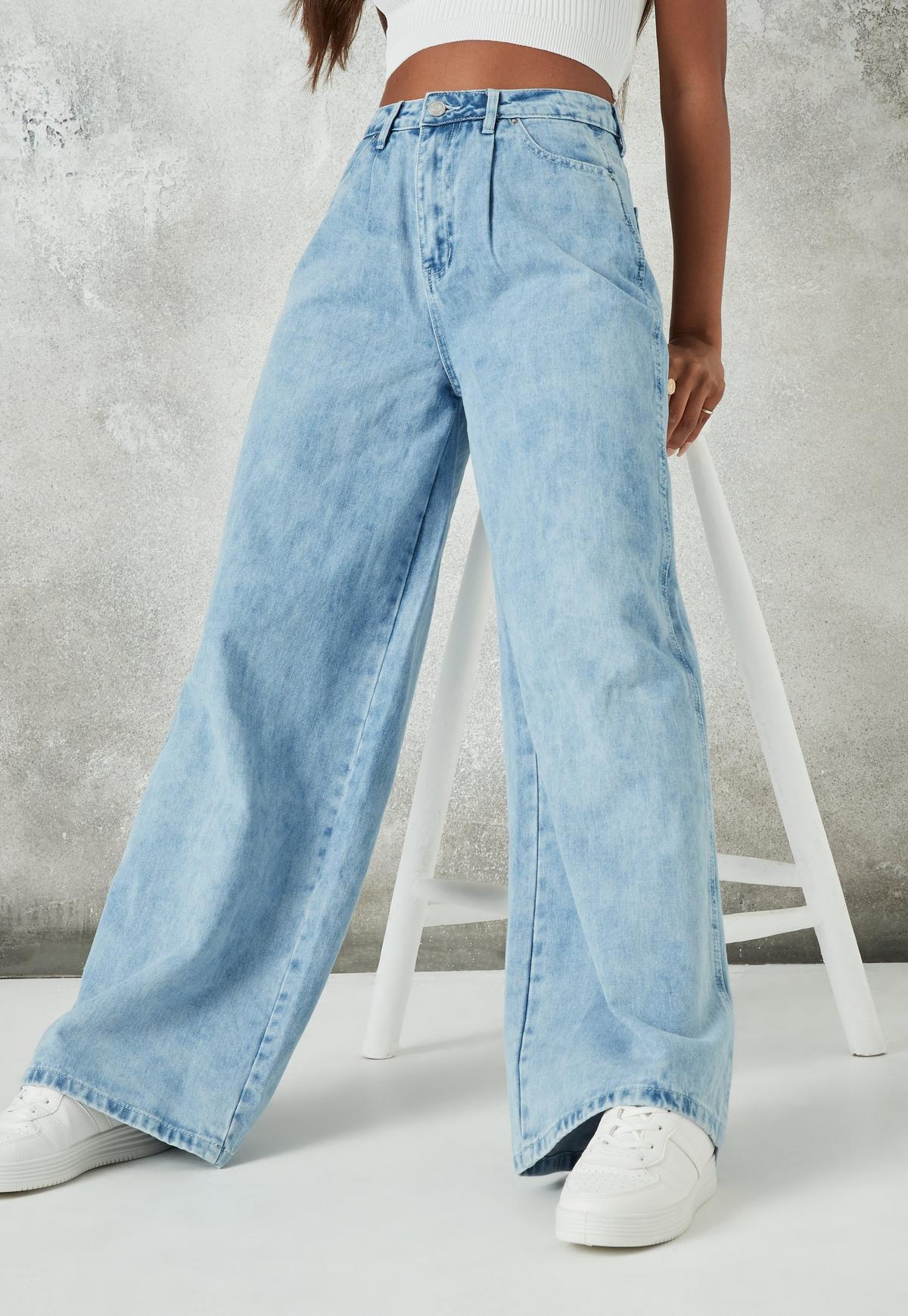 light blue baggy boyfriend jeans