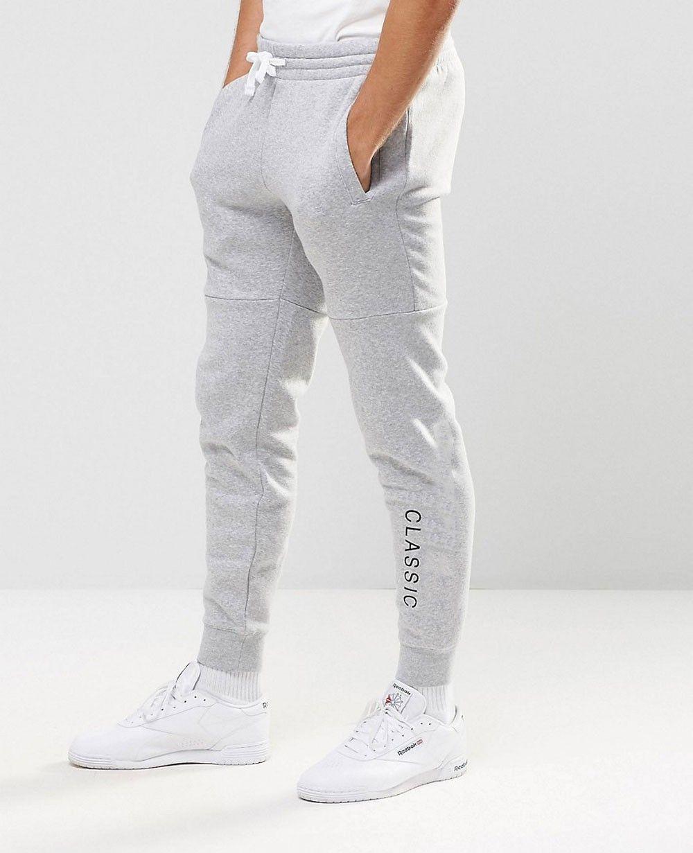 men joggers in grey