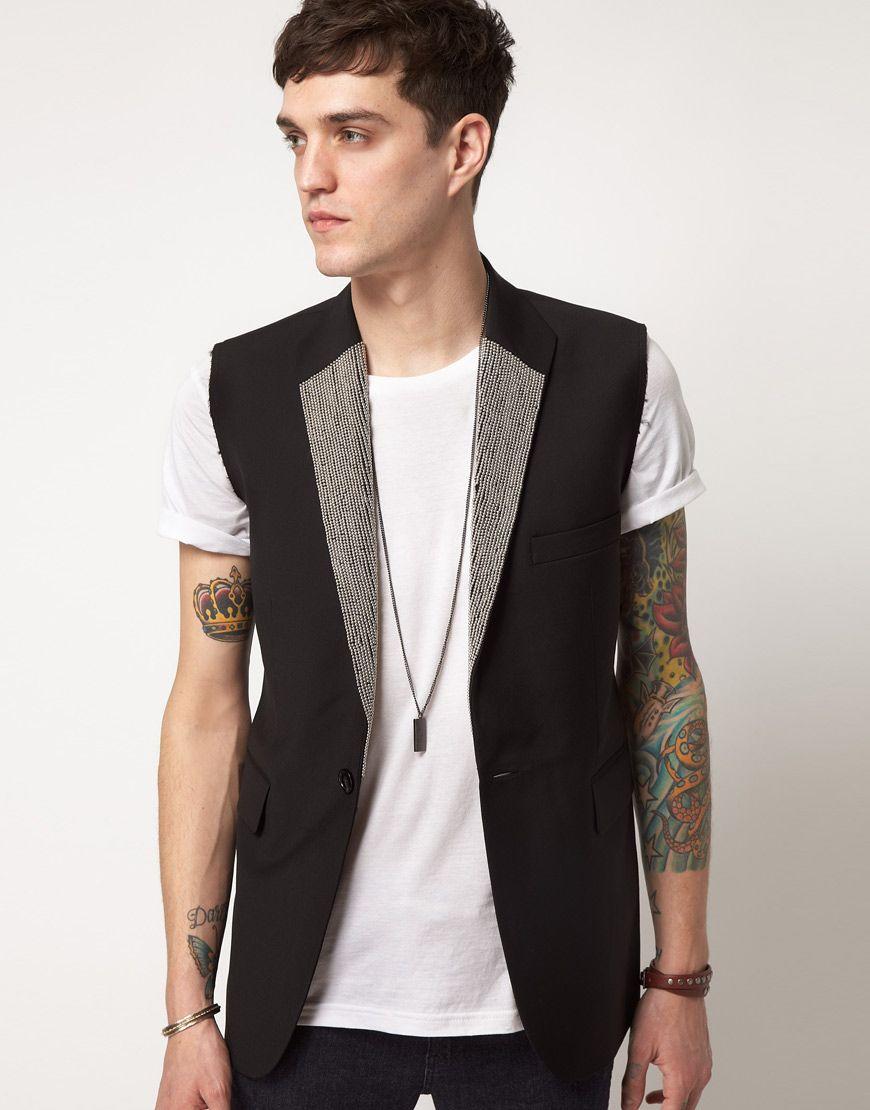 mens sleeveless blazer