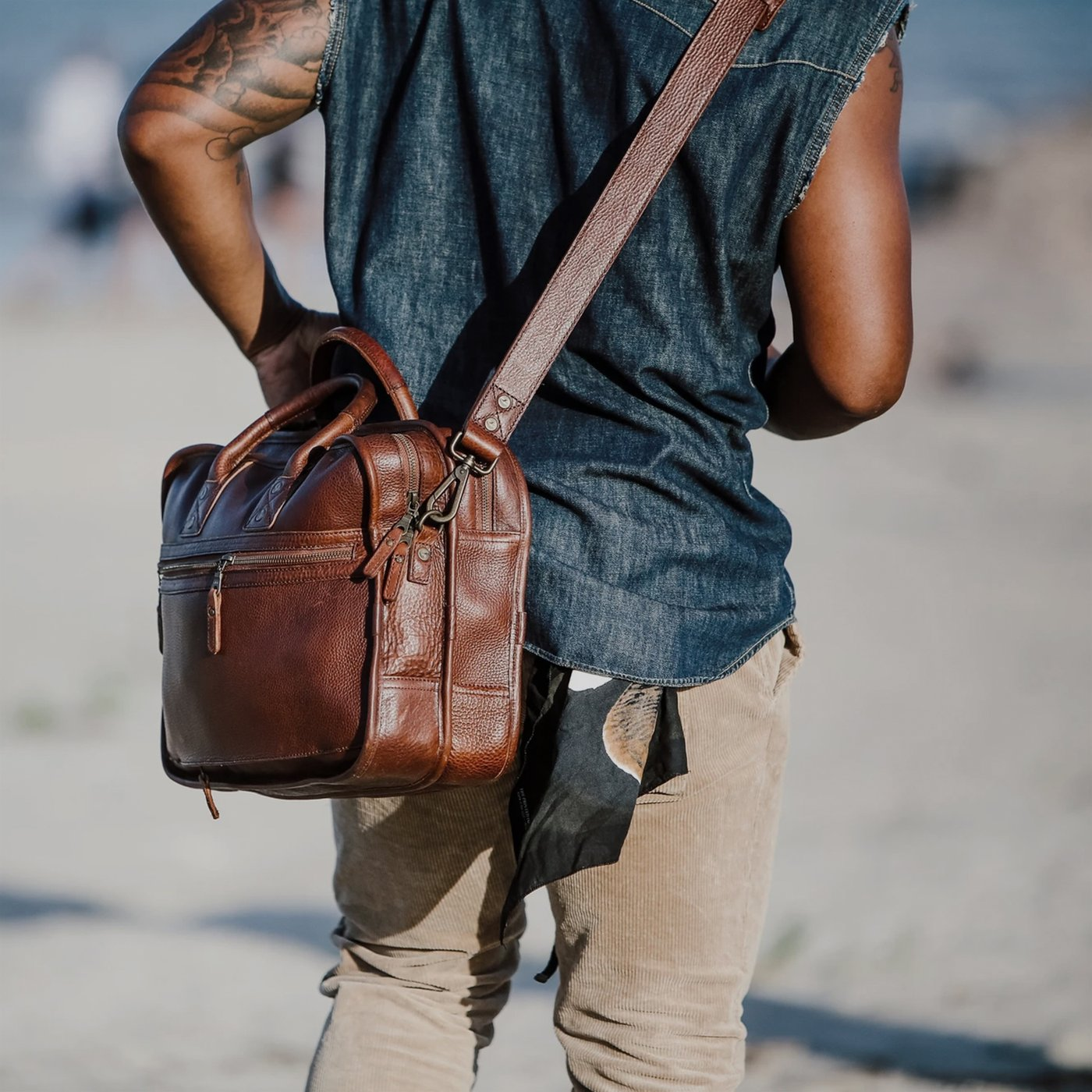men's styles flight bags for leather
