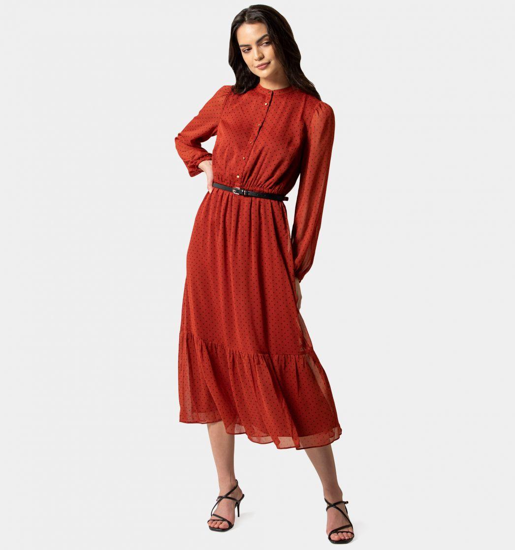 simple Tiered Midi Dress