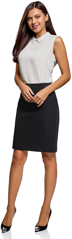 oodji Collection Women's Basic Straight Skirt