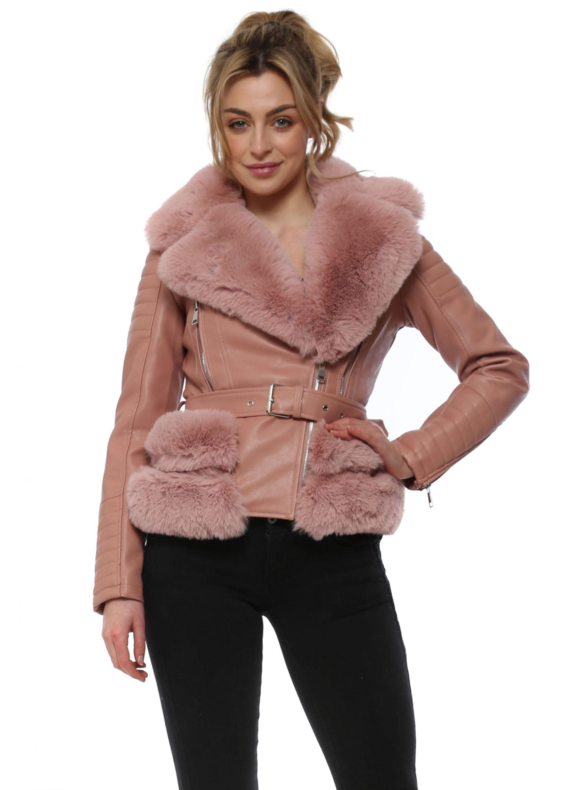pink leather aviator